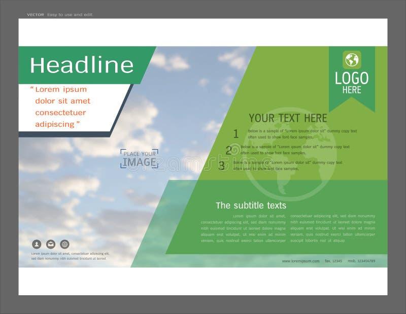 Diseño de la disposición de la presentación para la plantilla de la página de cubierta del negocio stock de ilustración