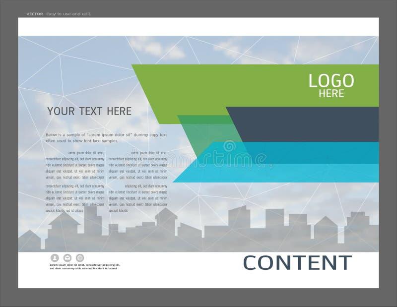 Diseño de la disposición de la presentación para la plantilla de la página de cubierta del negocio ilustración del vector
