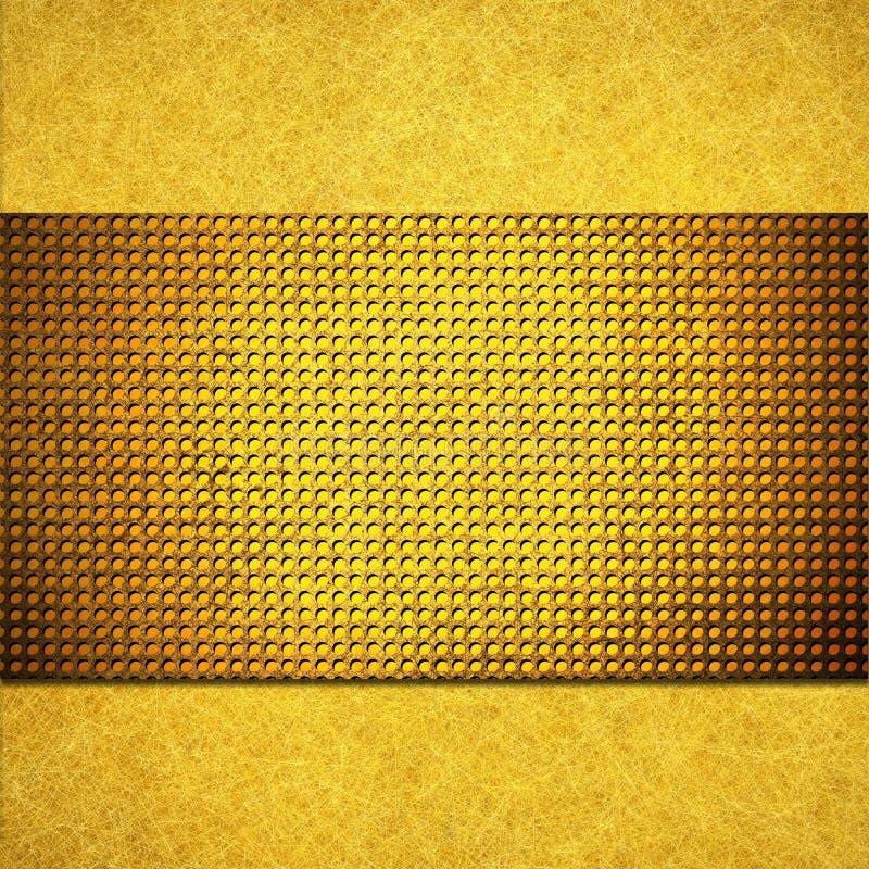 Diseño de la disposición del fondo del oro amarillo libre illustration