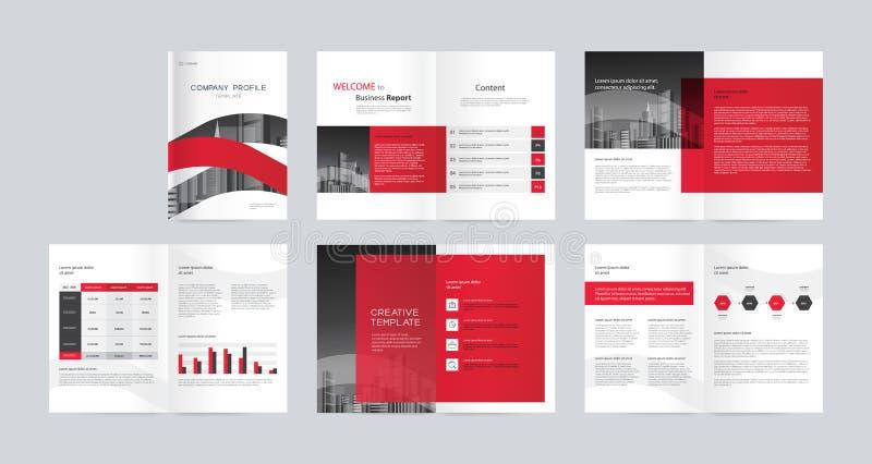 Diseño de la disposición de la plantilla con la página de cubierta para el perfil de compañía, informe anual, folletos, aviadores libre illustration