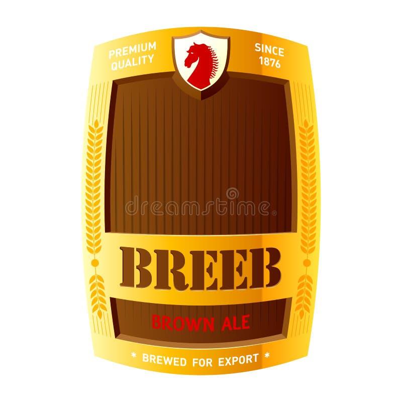 Diseño de la escritura de la etiqueta de la cerveza libre illustration