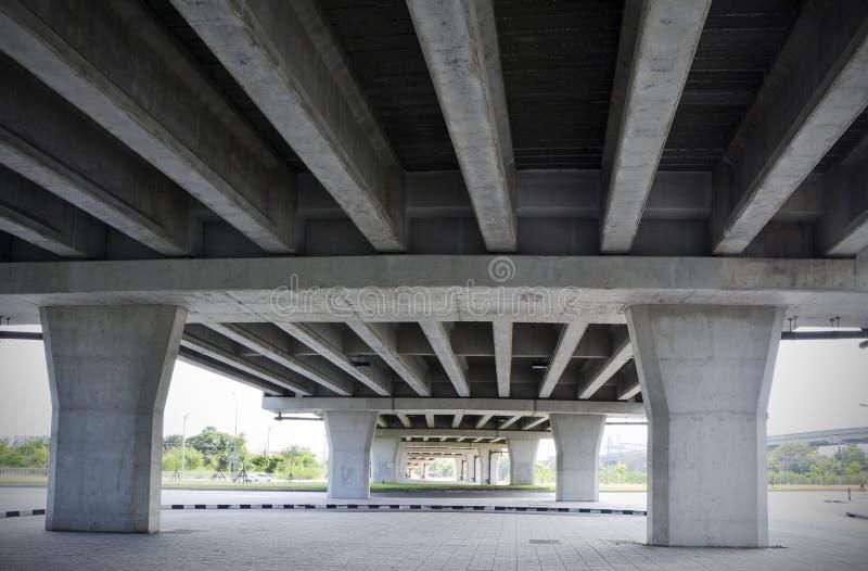 Diseño de la estructura debajo del puente foto de archivo
