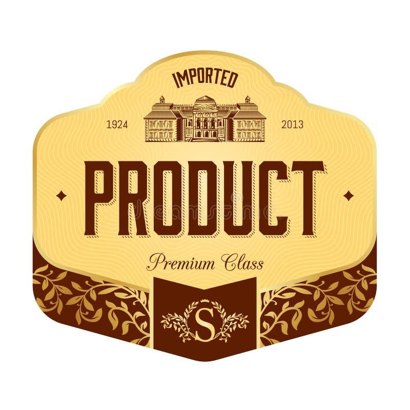 Diseño de la etiqueta stock de ilustración