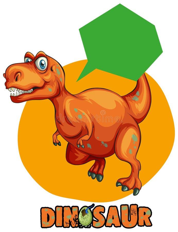 Diseño de la etiqueta engomada con el rex del tiranosaurio ilustración del vector
