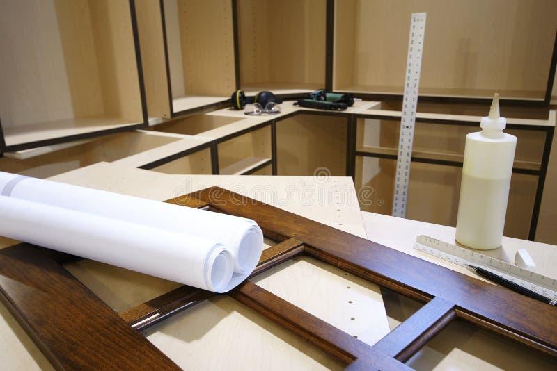 Diseño de la fabricación de la cocina imágenes de archivo libres de regalías