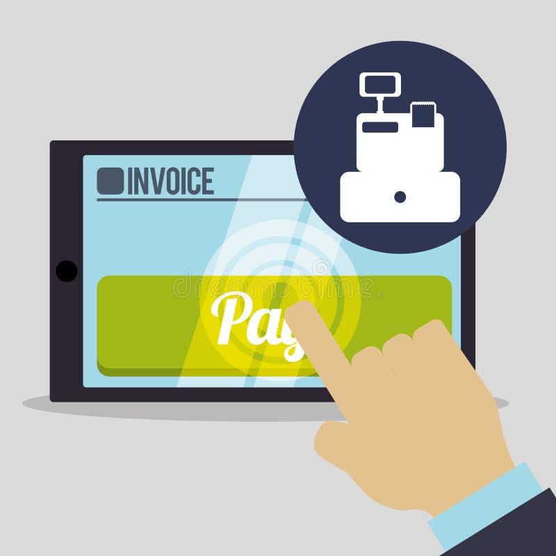 Diseño de la factura Pago en línea Ejemplo aislado, vector stock de ilustración