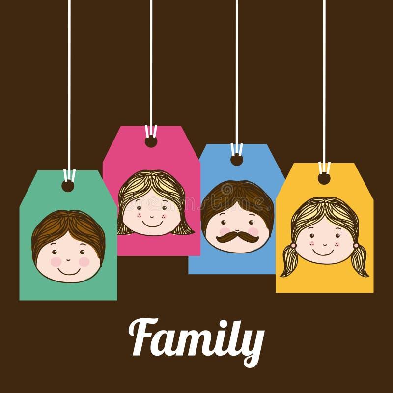 Download Diseño de la familia ilustración del vector. Ilustración de muchacha - 42427115