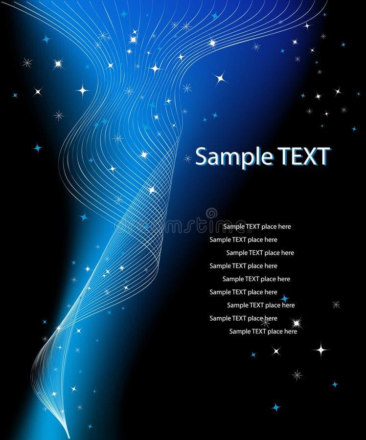 Diseño de la fantasía del vector con el lugar para su texto stock de ilustración