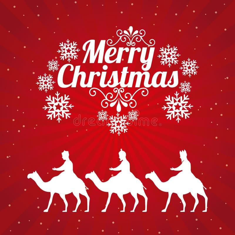Diseño de la Feliz Navidad stock de ilustración