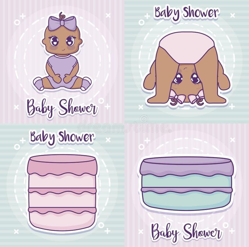 Diseño de la fiesta de bienvenida al bebé libre illustration