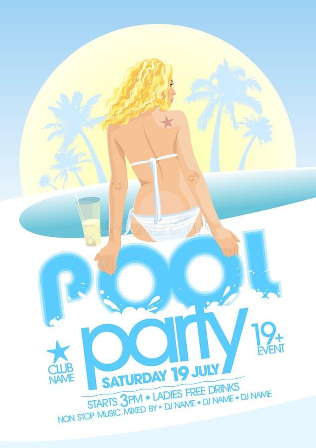 Diseño de la fiesta en la piscina libre illustration