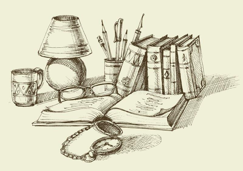 Diseño de la forma de vida del vintage libre illustration