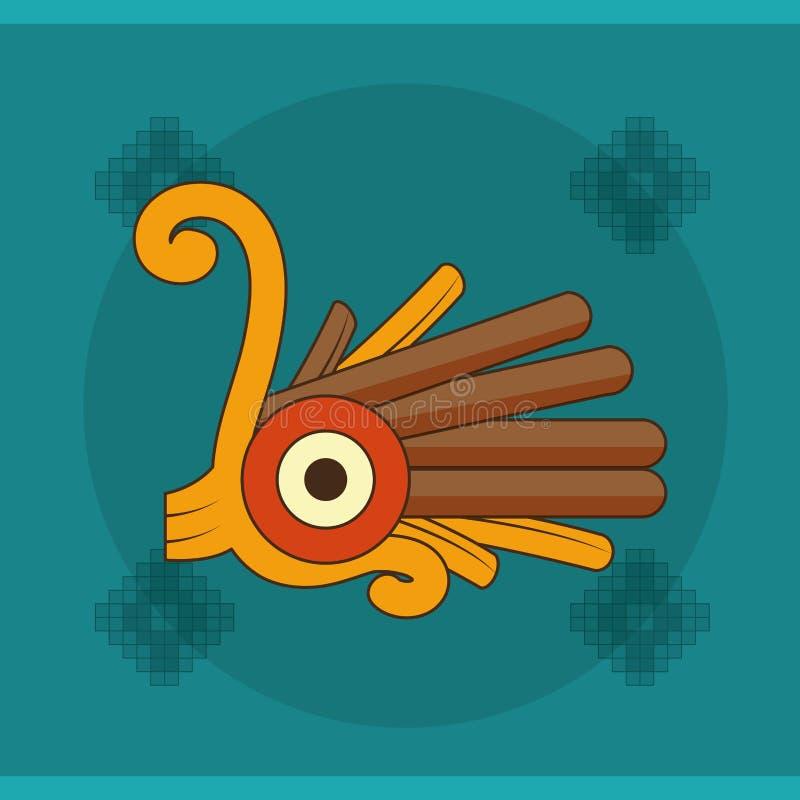 Diseño de la forma del maya ilustración del vector