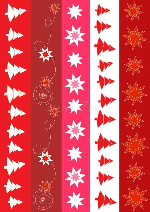Diseño de la frontera de la Navidad stock de ilustración