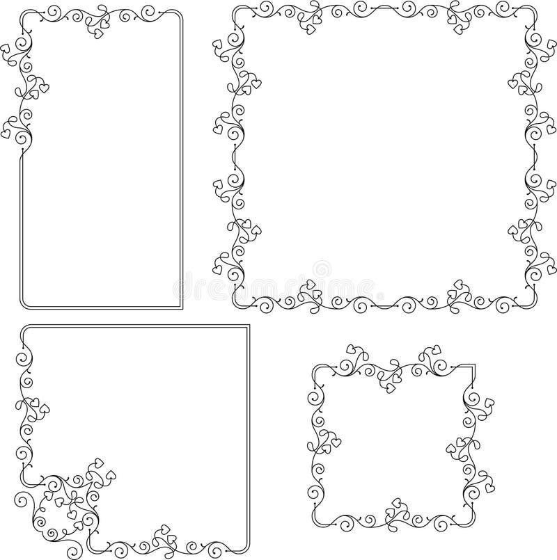 Diseño de la frontera del marco stock de ilustración