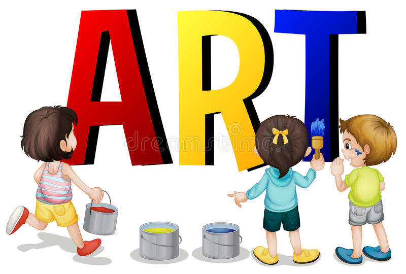 Diseño de la fuente con arte de la palabra ilustración del vector