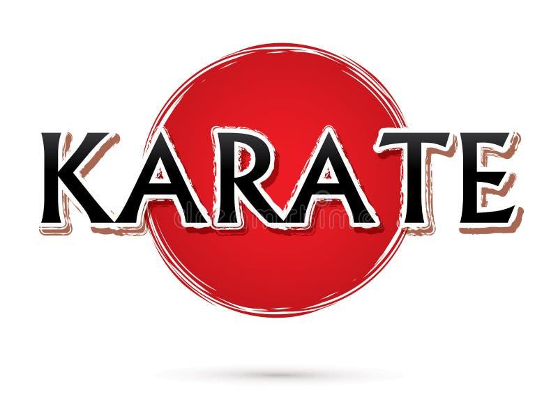 Diseño de la fuente del karate stock de ilustración