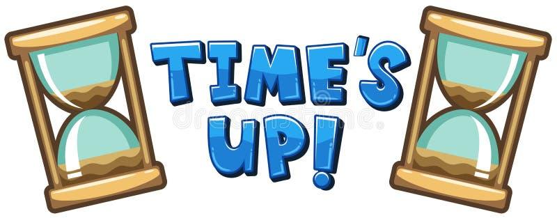 Diseño de la fuente para el ` s del tiempo de palabra para arriba libre illustration