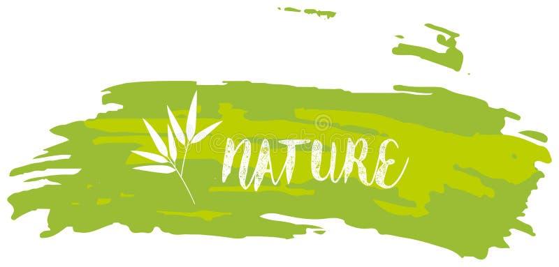 Diseño de la fuente para la naturaleza de la palabra libre illustration