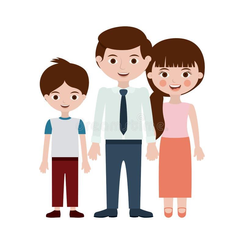 Diseño de la historieta del padre y del hijo ilustración del vector