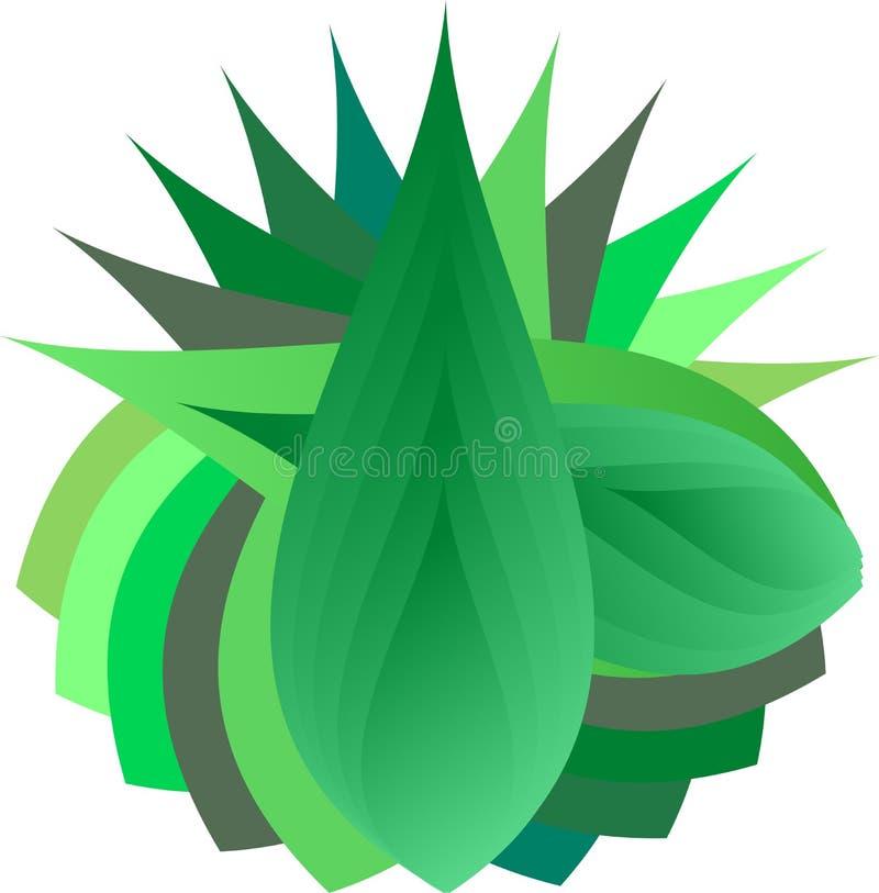 Diseño de la hoja ilustración del vector