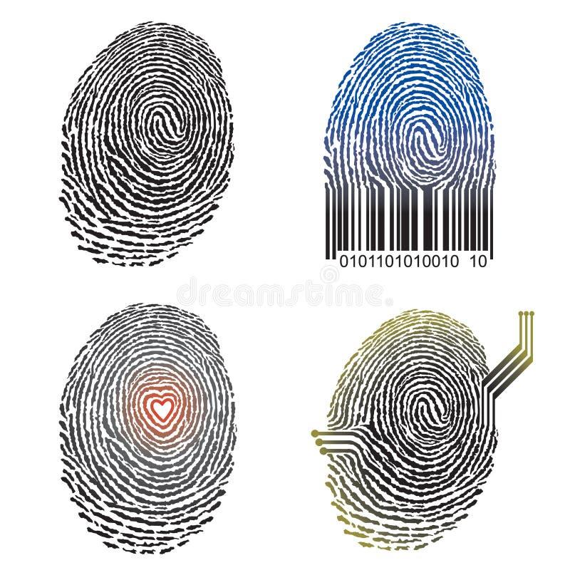 Diseño de la huella digital libre illustration