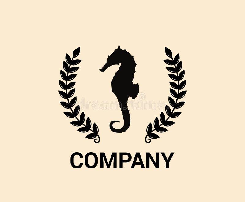 Diseño 1 de la idea del Seahorse stock de ilustración