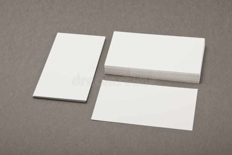 Diseño de la identidad, plantillas corporativas, estilo de la compañía, busin en blanco imagen de archivo