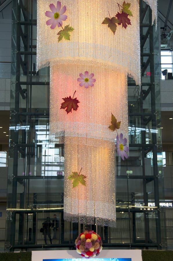 Diseño de la iluminación del aeropuerto de Inchon foto de archivo libre de regalías
