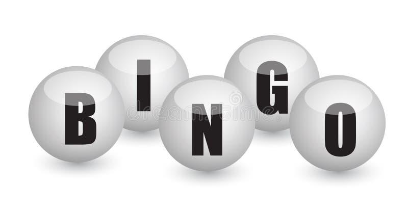 Diseño de la ilustración de las bolas del bingo ilustración del vector