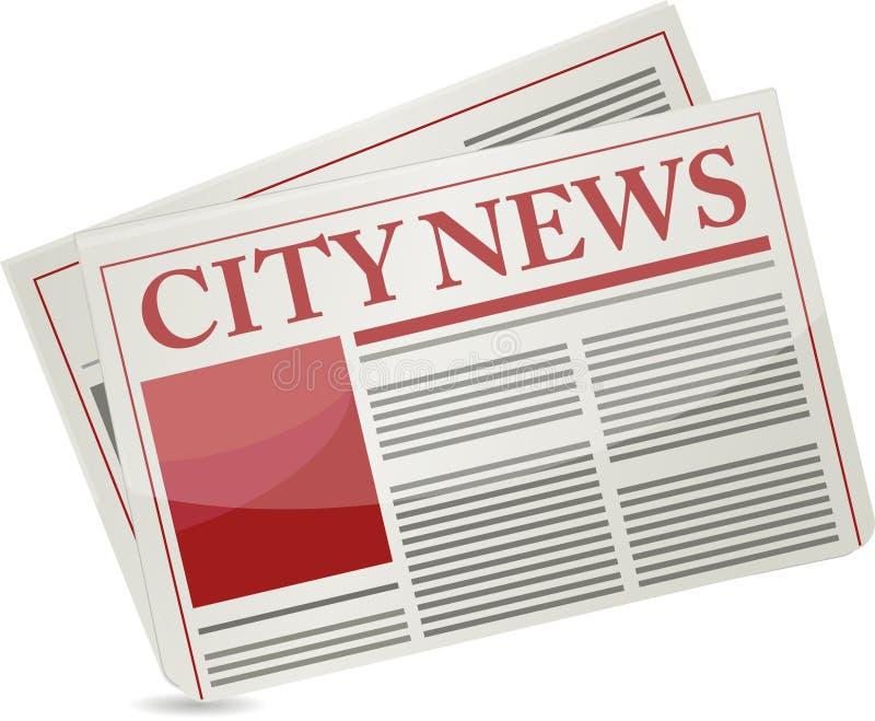 Diseño de la ilustración del periódico de las noticias de ciudad libre illustration