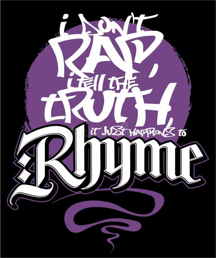 Diseño de la impresión del estilo del hip-hop, imagen del vector libre illustration