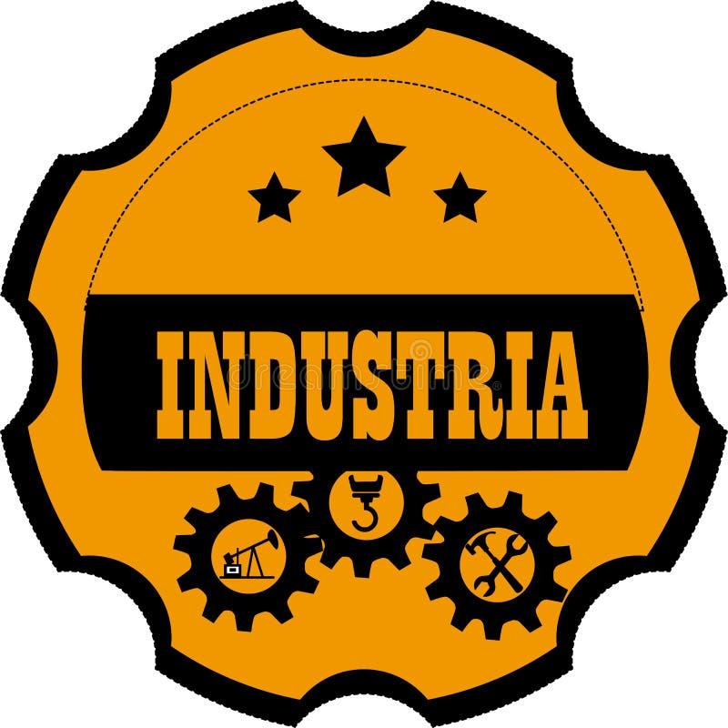 Diseño de la industria stock de ilustración