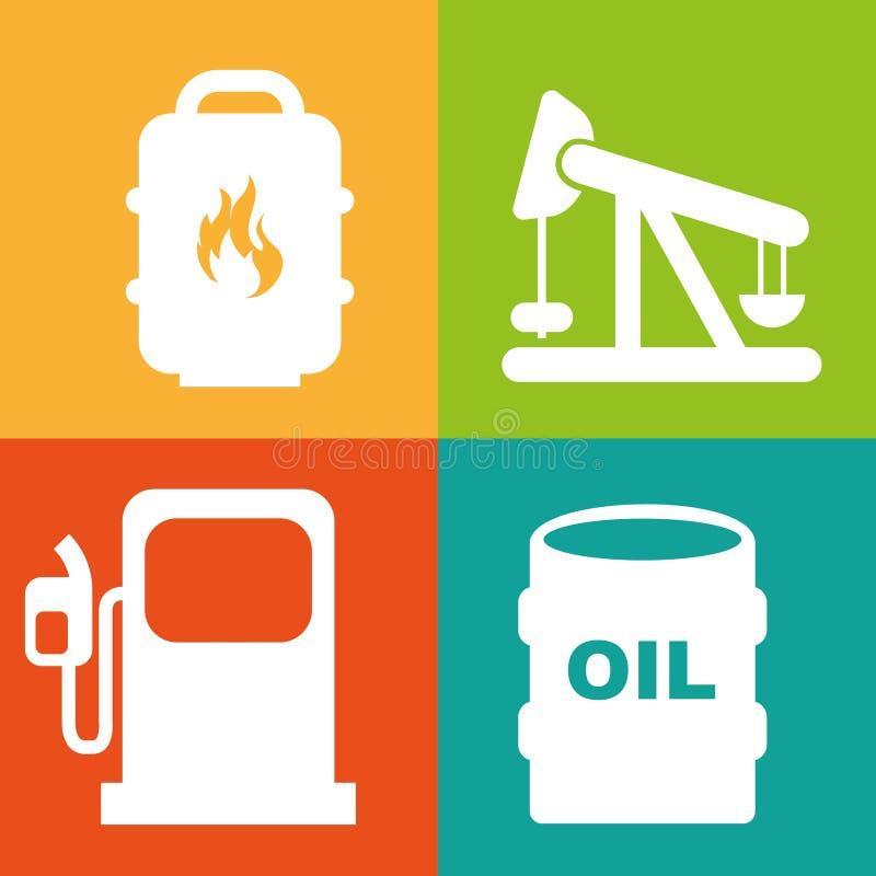 Diseño de la industria de petróleo ilustración del vector