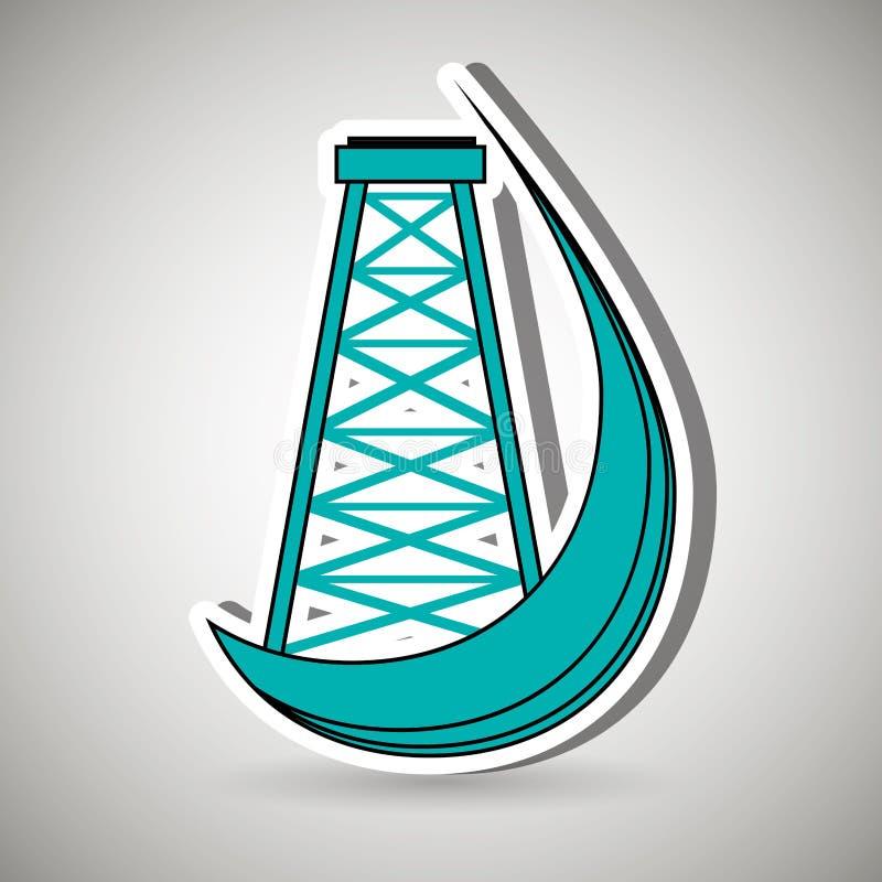 Diseño de la industria de petróleo libre illustration