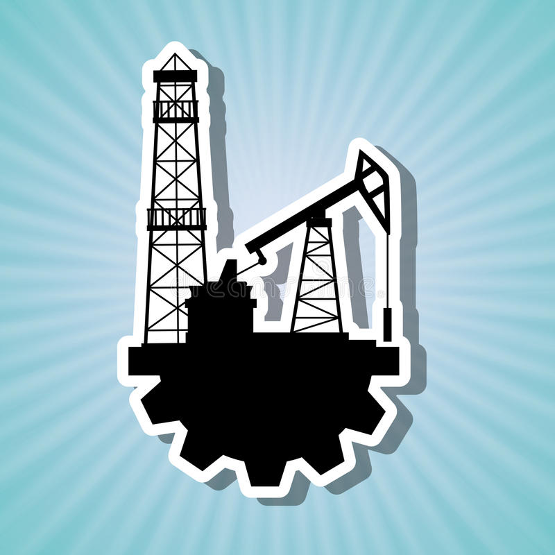 Diseño de la industria de petróleo stock de ilustración