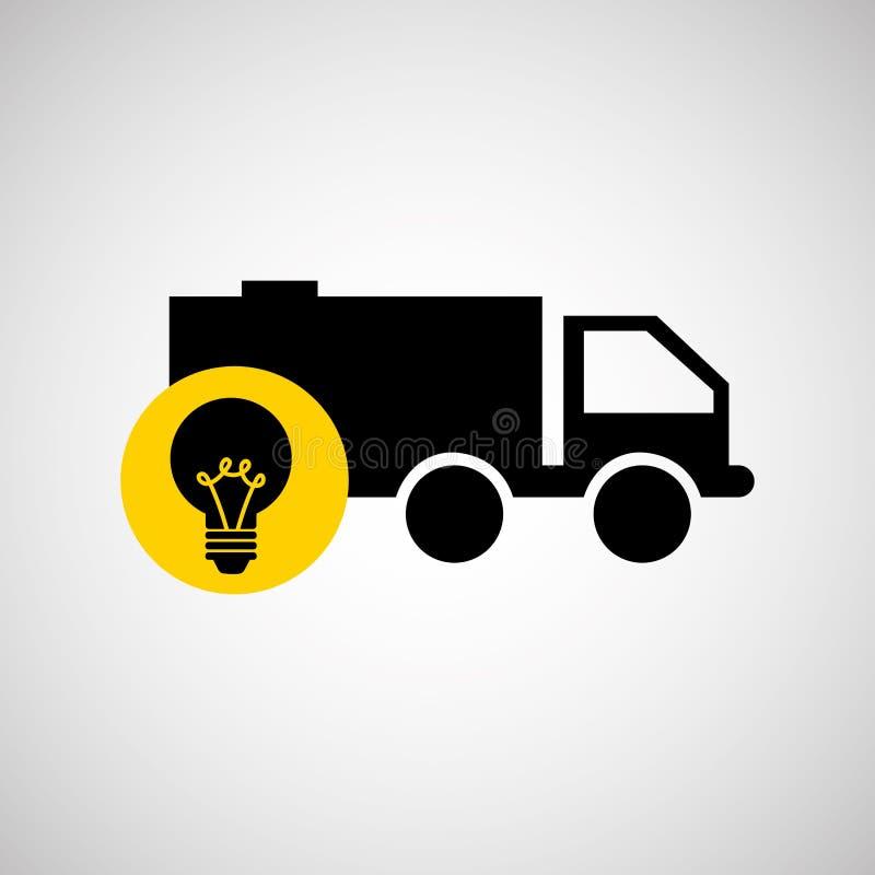 diseño de la industria energética ilustración del vector