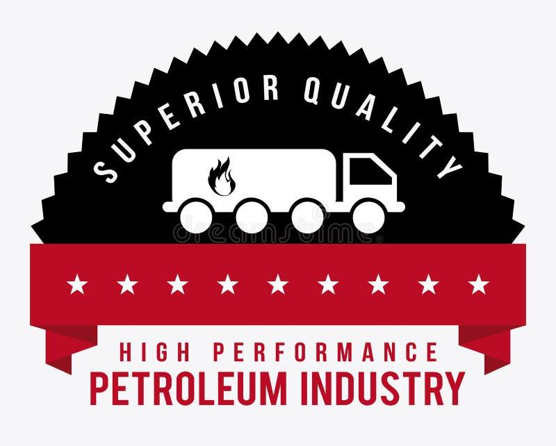 Diseño de la industria petrolera stock de ilustración