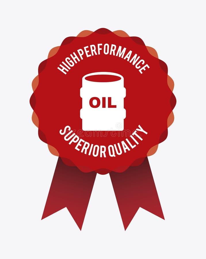 Diseño de la industria petrolera ilustración del vector