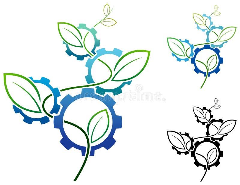 Diseño de la ingeniería de la naturaleza ilustración del vector
