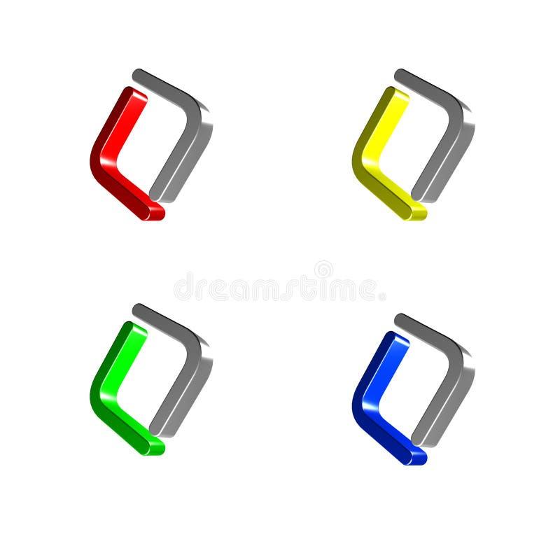 Diseño de la insignia de la compañía foto de archivo libre de regalías