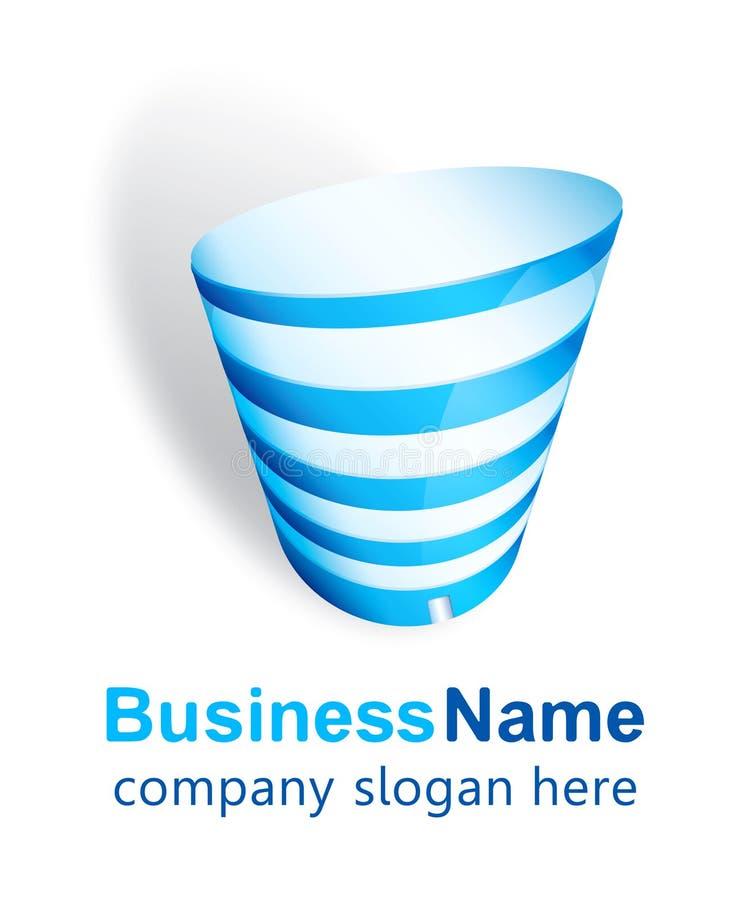 Diseño de la insignia del centro de negocios stock de ilustración