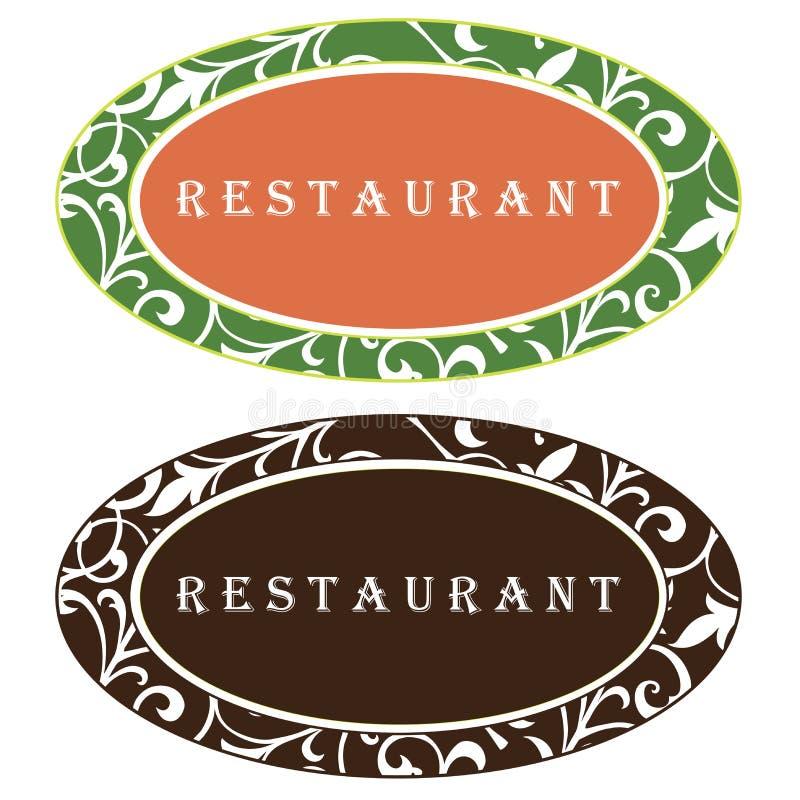 Diseño de la insignia del restaurante stock de ilustración