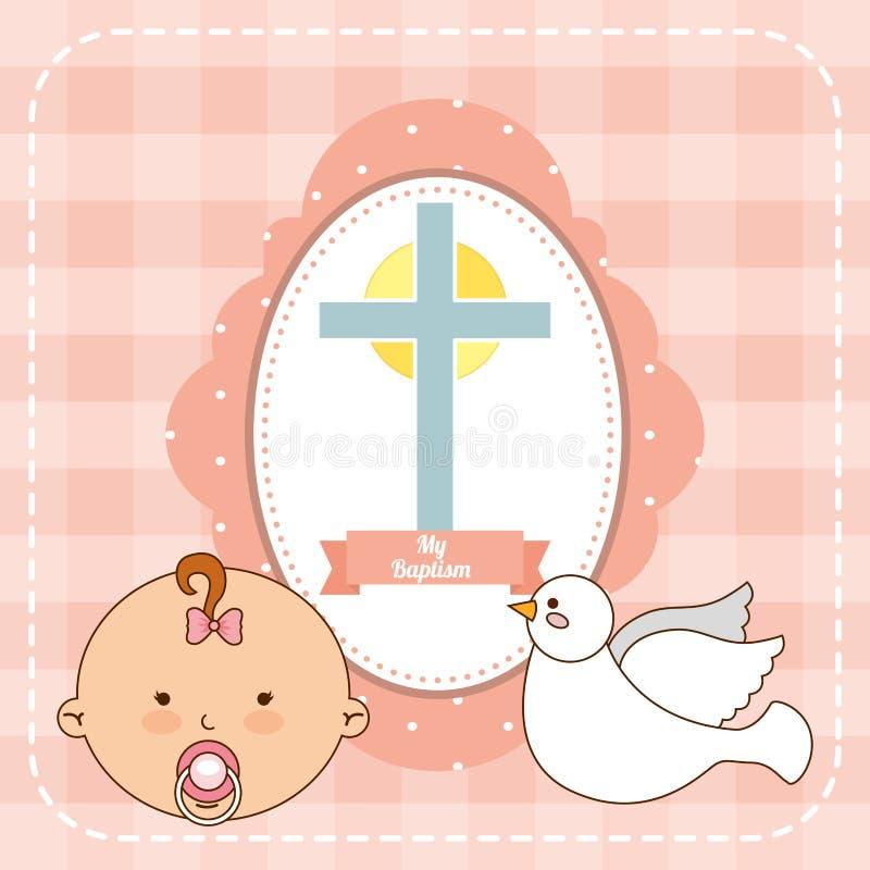 Diseño de la invitación del bautismo libre illustration
