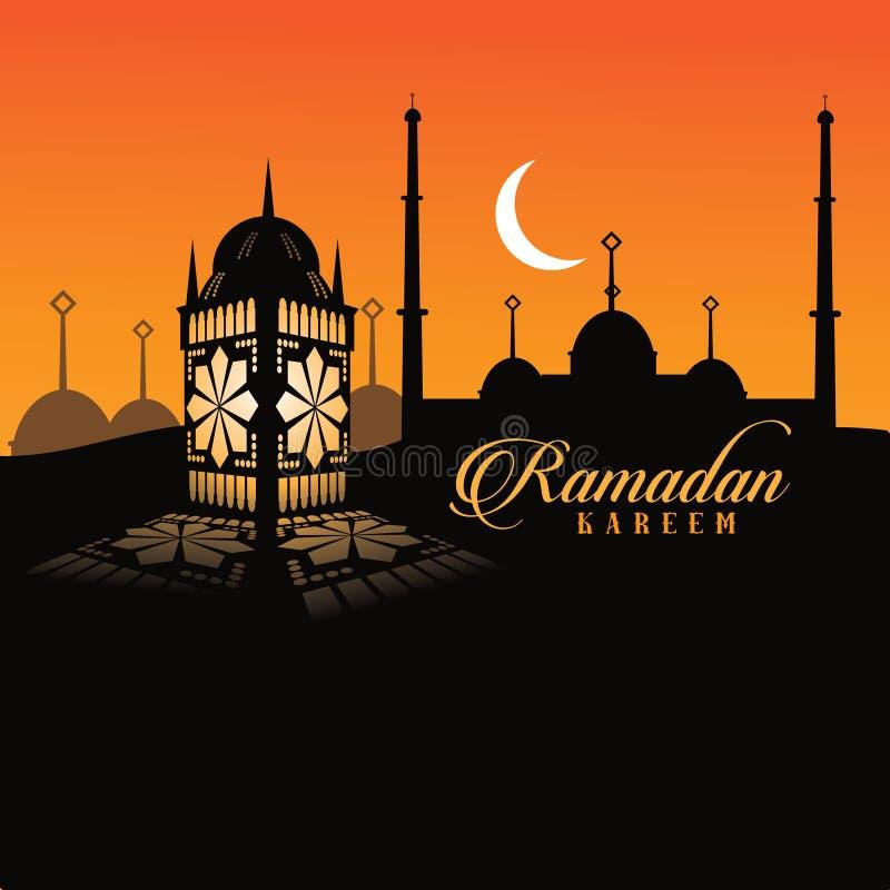 Diseño de la linterna del Ramadán stock de ilustración