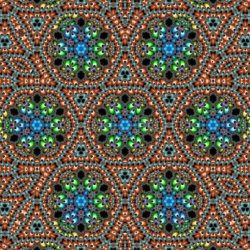 Diseño de la materia textil del bordado del vintage ilustración del vector