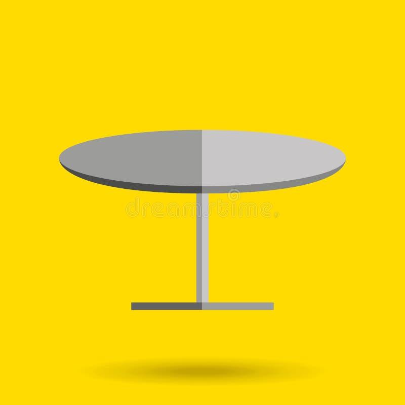 diseño de la mesa redonda ilustración del vector