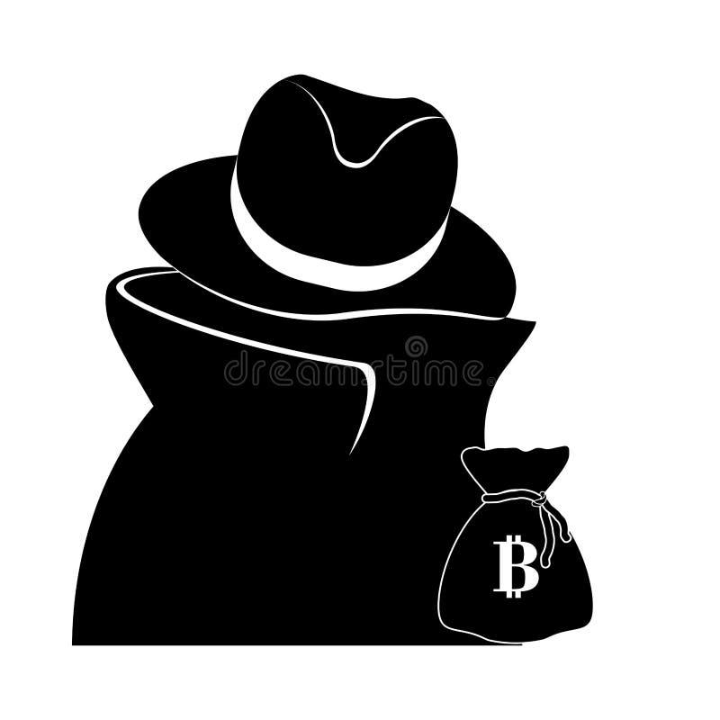 diseño de la moneda del bitcoin libre illustration