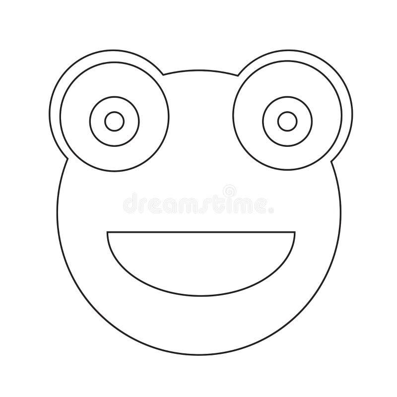 Diseño de la muestra del ejemplo del icono de la emoción de la rana libre illustration