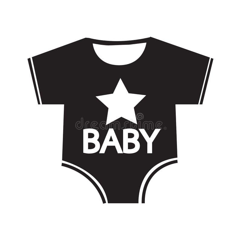 Diseño de la muestra del ejemplo del icono de la ropa del bebé stock de ilustración